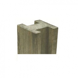 Forest Garden Reeded Slotted Fence Post 100mm X 100mm X 2.4m