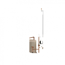 Electric Heating Company Compact Cpsdcomp12/150 Electric Boiler Complete With Direct Cylinder 12kw 150l