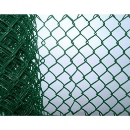 Green Plastic Coated Chainlink Fence 900 X 50 X 3.15mm 25m (includes Line Wire)