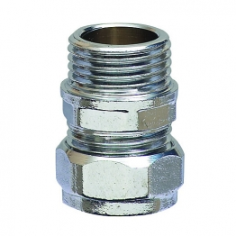 Straight Coupling Chrome Mi 15mm X 1/2in