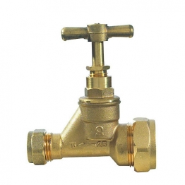 Poly Stop Cock Mdpe Brass 15mm X 25mm