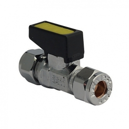 Mini Gas Ball Valve Chrome 10mm