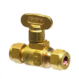 Isogas Brass Isolating Valve 22mm