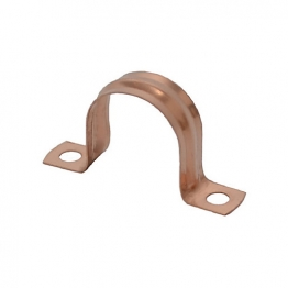 4trade Copper Saddle Clips 22mm (pack Of 10)