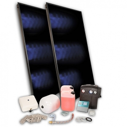 Solfex 2 X Fk500p On Roof Solar Thermal Prestige Pack Tile