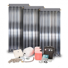 Solfex Dsk-05923 Energy Systems 3 X Cpc6 Inox Vacuum Tube Solar Thermal Pack For Tile Roof