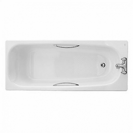 Twyford Shallow Steel Bath White 1700mm Tg Slip Resistant Sb1772wh