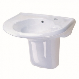 Twyford Sa4311wh Sola 1 Tap Hole Basin White 600mm