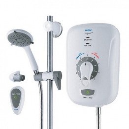 Safeguard + Grab 8.5kw Electric Shower With Remote Csgp08wgrbrss