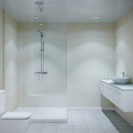 Multipanel Classic Shower Panel 2400 X 1200mm Hydrolock Riven Marble