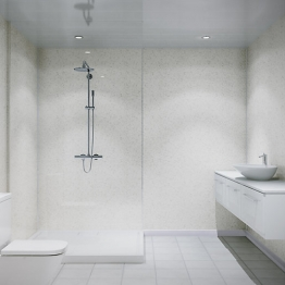 Multipanel Classic Shower Panel 2400 X 1200mm Unlipped Riven Marble 9241