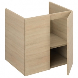 Iflo Aliano Wall Hung Unit Oak Including 2 Door 600mm X 480mm