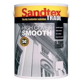 Sandtex Masonry Paint High Cover Smooth Black 5l