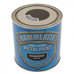 Hammerite Metal Paint Hammered Black 2.5 Litre