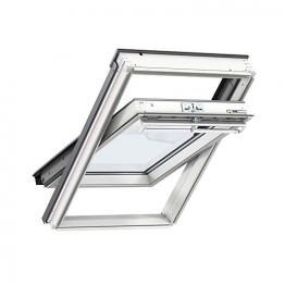 Velux Centre Pivot Roof Window 660mm X 1180mm White Painted Ggl Fk06