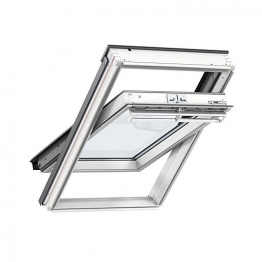 Velux Integra Electric Roof Window 660mm X 1180mm White Paint Ggl Fk06