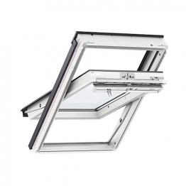 Velux Integra Electric Centre Pivot Roof Window 1140mm X 1180mm White Painted Ggl Sk06 207021u