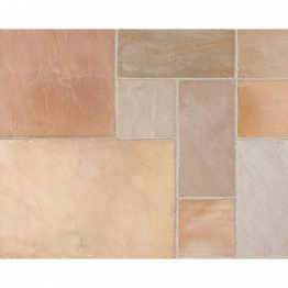 Marshalls Indian Buff Sandstone Paving Project Pack 15.23m2 Coverage