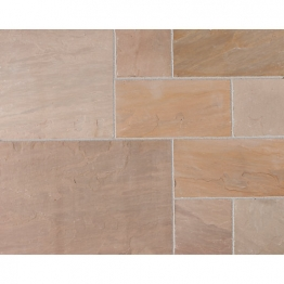 Marshalls Riven Fairstone Natural Sandstone Autumn Bronze Multi Paving Pack 560mm X 275mm X 22mm