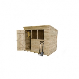 Pent Overlap Pressure Treated Shed 6 X 8