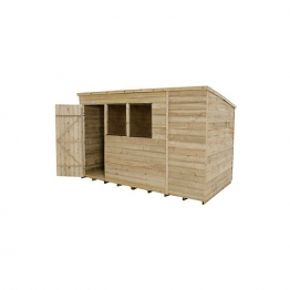 Pent Overlap Pressure Treated Shed 10 X 6