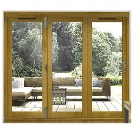 54mm Folding Doors Prefinished Solid Oak 8 Ft (2.4m)
