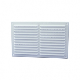 Rytons '9 X 6' Louvre Ventilator With Flyscreen - White