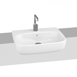 Vitra 4390b003-0001 Shift Semi Recessed 1 Tap Hole Basin 55cm