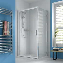 Iflo Ravana Sliding Door Shower Enclosure In Chrome Pack 2 Of 2 1400mm