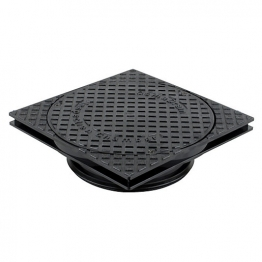 Osmadrain Drainage Square Sealed Cover And Adjustable Frame To Suit 250mm Shallow Inspection Chamber