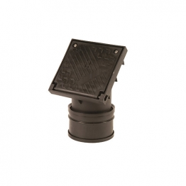 Osmadrain Rodding Point 110mm Single Socket Black 4d361