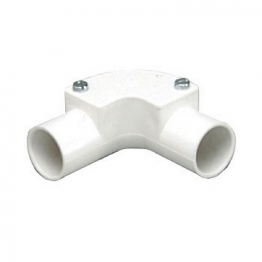 Mk Egatube 20mm Conduit Inspection Elbow White Eie2bqwhi