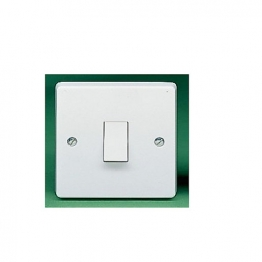 Crabtree 1 Gang 2 Way 10ax Sp Plate Switch 4170
