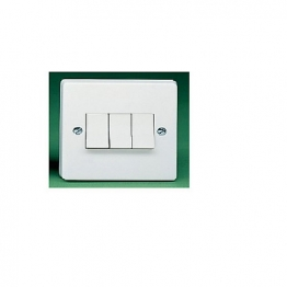 Crabtree 3 Gang 2 Way 10ax Sp Plate Switch 4173