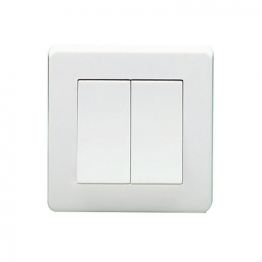 Crabtree 2 Gang 2 Way 10ax 10a Sp Plate Switch 5172
