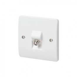 Mk Single Coaxial/satellite Socket K3525whi