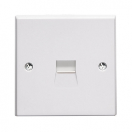 Volex White Moulded 13a Unswitched Socket Outlet Marked Fridge
