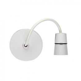 Volex White Moulded 6in T2 Heat Resistant Pendant Set With Flexible Pvc Cable