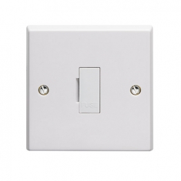 Volex White Moulded 13a Unswitched Fused Connection Unit