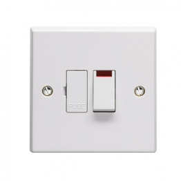 Volex White Moulded 13a Double Pole Switched Fused Connection Unit With Neon Light Indicator