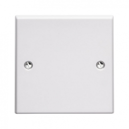 Volex White Moulded 1 Gang Blanking Plate