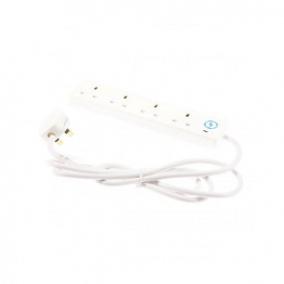 4trade 4 Gang 2 Metre Surge Extension Lead With Neon White