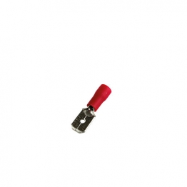 4 Trade Red 6.3mm Male Crimp Pack Of 100