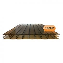 Axiome Bronze 16mm Polycarbonate Sheet 840mm X 2500mm