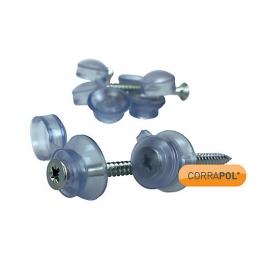 Corrapol Clear 50mm Fixings Pack 10