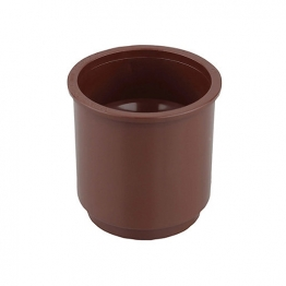 Osma Roundline 0t024 Pipe Connector 68mm Brown