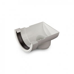 Osma Roundline 0t007 Stopend Outlet 112mm White