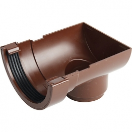 Osma Roundline 0t007 Stopend Outlet 112mm Brown