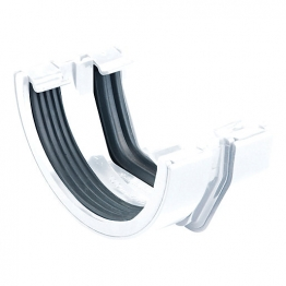 Osma Squareline 4t818 Connector To 4.5' Roundline Gutter 100mm White