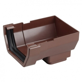 Osma Squareline 4t807 Stopend Outlet 100mm Brown